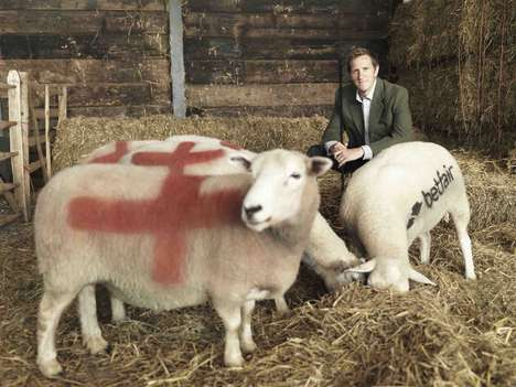 Sheepvertising Sports Stunts - England's Rugby World Cup Stars Wish to Recruit Kiwi Animals