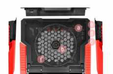 Luminous Cooling Pads - The Thermaltake Massive23 GT Prevents Laptops from Overheating