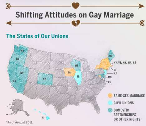 Same-Sex Spousal Graphs - The 'All's Fair in Love' Infographic Shows Positive Change