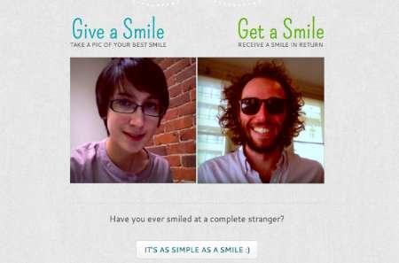 Stranger Smile-Sharing Sites