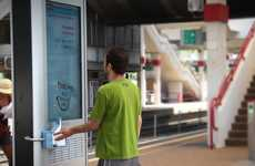 Uplifting Social Billboards - The Prigat Smile Stations Bring Happiness to Consumers