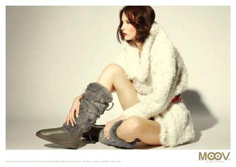 Fluffy Leather Footwear