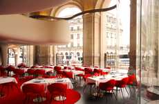 Luxury Royal Restaurants - The Exquisite L'Opera Restaurant in Paris is Designed by Odile Decq