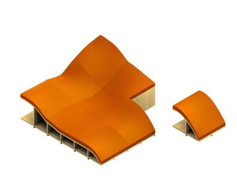Undulating Modular Loungers