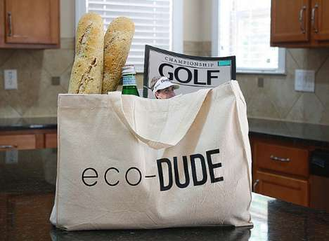 Macho Green Grocery Totes