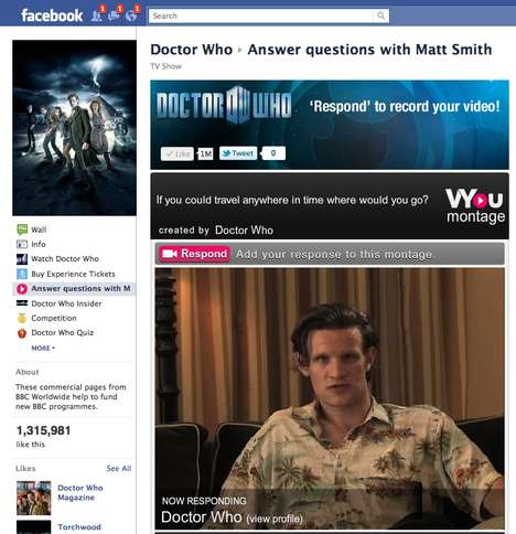 Celebrity Interaction Campaigns - Doctor Who's Matt Smith Answers Questions via Facebook
