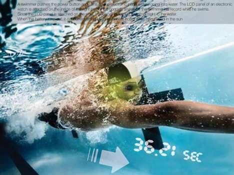 Time-Tracking Swim Shields