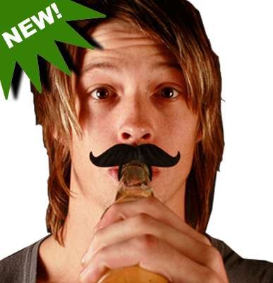 Mustache Bottle Clip-Ons