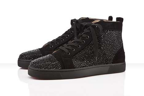 Black Crystal Sneakers
