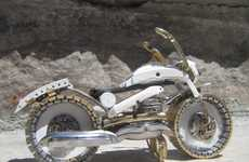 Two-Wheeled Timepiece Sculptures