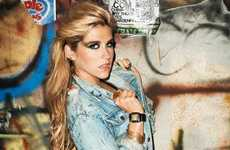 Cleaned Up Starlet Campaigns - The Kesha for Casio Watches Ad Campaign Shows the Singer at her Best