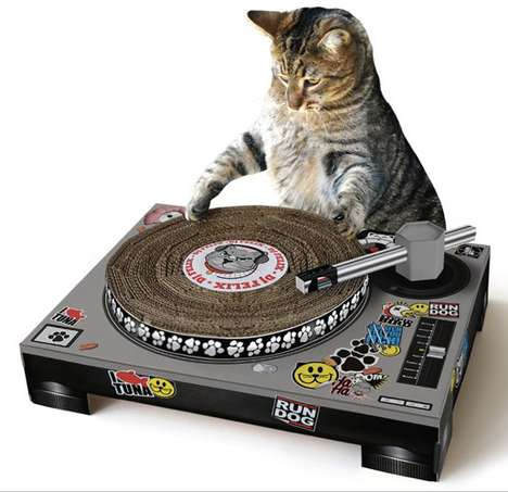 Feline Turntable Scratchers