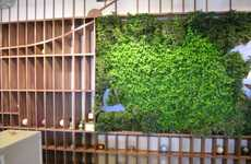 Herbivore Office Hulls - The Living Wall is a Perfect Recreation of Manhattan