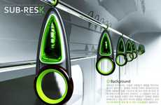 Mass Transit Gas Masks - 'Sub-Resk' Turns Subway Handles into Life-Saving Oxygen Masks
