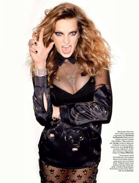 The Daria Werbowy Vogue Russia Set by Terry Richardson is Sassy