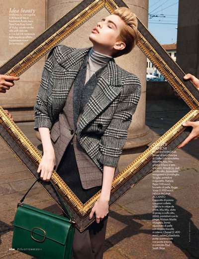Fashion-Framing Editorials - The Elle Italia Marcelo Krasilcic Shoot Makes Use of Picture Frames