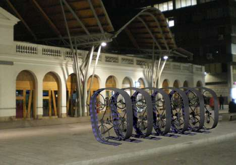 Sleek Helix Bike Racks