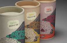 Vividly Landscaped Branding - Teatul Packaging Uses Earth-Minded Pigment to Paint the Earth
