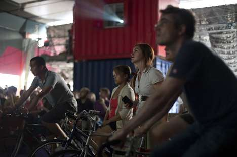 Pedal-Powered Movie Theaters - The Cycle-In Cinema is a Pop-Up Generated Solely by Cyclists