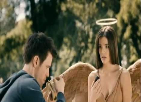 Blundering Celestial Babes - The Lynx Excite 'My Angel Girlfriend' Ad Shows Downfall of the Divine