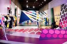 Chromatic 80s-Style Interiors - Reebok Flash Pop-Up Store Takes Cues from Pop Culture