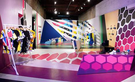 Chromatic 80s-Style Interiors