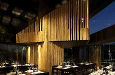 Bamboo-Separated Dining