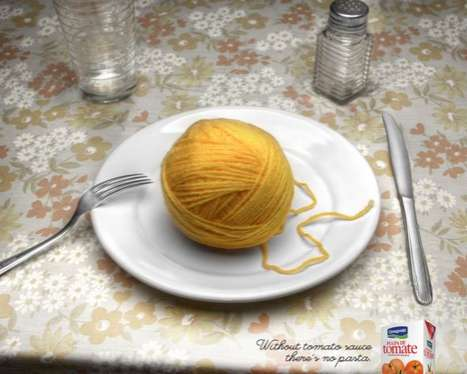 Inedible Noodle Advertising