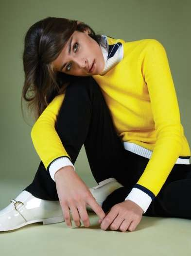 Retro Schoolgirl Fashion - The Elisa Sednaoui El Pais Semanal Shoot is Perfectly Preppy