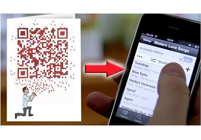 Musical QR Greeting Cards - Playlist Cards by Stupid Require a Smartphone to be Read