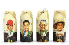 Personified Grain Packaging - Eight Treasures of Happiness Branding has a Humanizing Quality