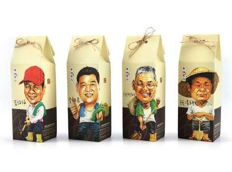 Personified Grain Packaging