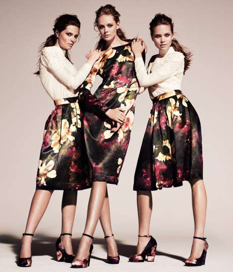 Botanical Beauties Shoots - H&M Conscious Fall Campaign in Head-to-Toe Floral Prints