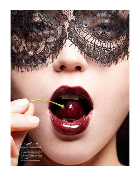 Seductively Masked Editorials - The Judith Bedard Fashion Magazine Spread is Mysteriously Sultry