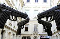Immense Magnum Installations - Guns by David Cerny Shows the Needlessness of Violence