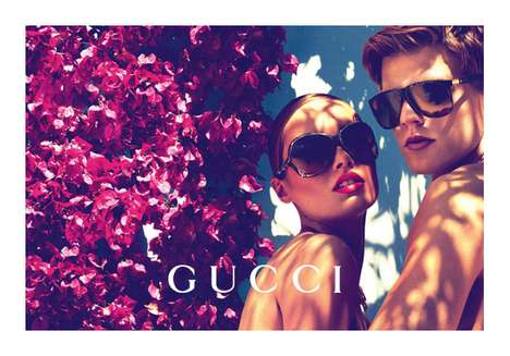 Flower-Clad Couple Campaigns