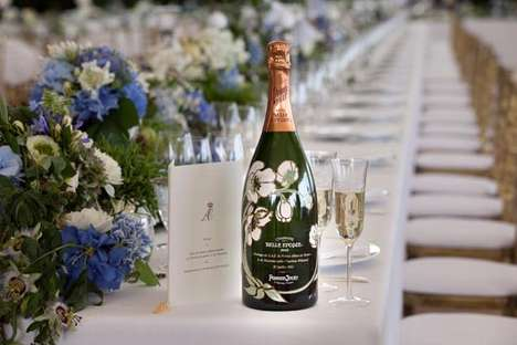 Love Story Champagnes - The Royal Wedding Perrier Jouet Bottle Contains a Romantic Background