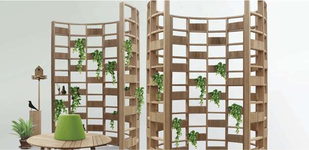 Arced Garden Partitions