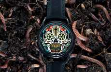 Sweet Skull Timepieces - The Mr. Jones 'The Last Laugh Tattoo' Watch is Morbidly Stylish