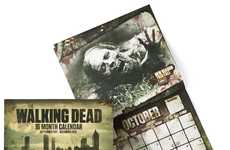 Gory Undead Timetables - Plan Your Survival with the Walking Dead Wall Calender