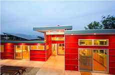 Lovable Barn-Red Abodes - This Rouge Residence by InterFORM Architecture is Vibrant and Inviting