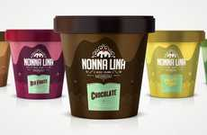 Marvelous Melting Branding - Nonna Lina Ice Cream Packaging Combines Classic and Contemporary Design