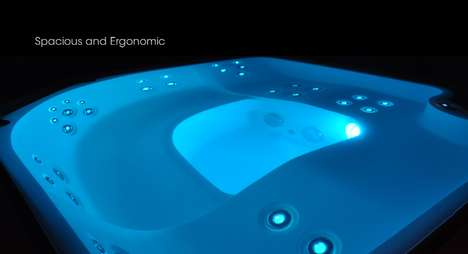 Opulent Overflowing Tubs - The Blanc 5 Infinity Spa Sends Luxury and Relaxation Over the Edge