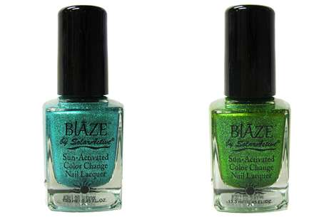 Color-Changing Glitter Lacquers - The Blaze Glitz on Madison Polish Uses SolarActive Technology