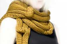 Skin-Healing Scarves - Twosquaremeter Knitwear is Apparel that Benefits the Skin