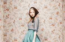 Vintage Soviet Lookbooks - Ulyana Sergeenko Debut Collection's Features Hyper-Glamorous Looks