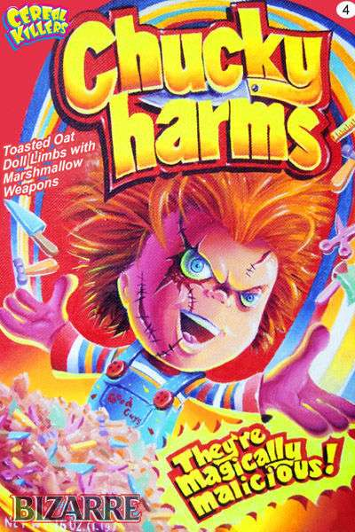 Spine-Tingling Trading Cards - 'Cereal Killers' by Artist Joe Simko is a Series That Spoofs & Scares