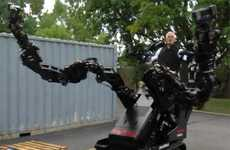 Giant Arm Exoskeletons - Raytheon Sarcos' Prototype Increases User's Strength With Dexterity