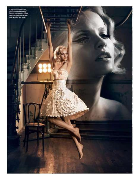 The Vincent Peters Vogue Russia Shots are Black Swan-Inspired