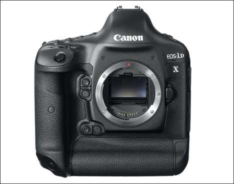 Sleek Squared Cameras - The Canon EOS-1D X is Chic and Stylish